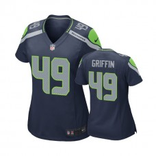 Women's Seattle Seahawks #49 Shaquem Griffin Navy 2018 Draft Pick Game Jersey