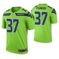 Seattle Seahawks #37 Tre Flowers Green Color Rush Legend Jersey