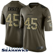 Seattle Seahawks #45 Kenny Easley Green Salute To Service Jersey
