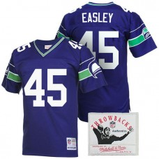 Seattle Seahawks #45 Kenny Easley Royal Blue Throwback Retired Player Jersey