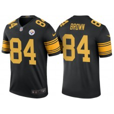Pittsburgh Steelers #84 Antonio Brown Black Color Rush Legend Jersey