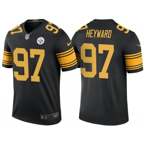 Pittsburgh Steelers #97 Cameron Heyward Black Color Rush Legend Jersey