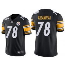 Pittsburgh Steelers #78 Alejandro Villanueva Black Vapor Untouchable Limited Jersey