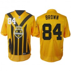 Pittsburgh Steelers #84 Antonio Brown 1993s ThrowBack Elite Yellow Jersey