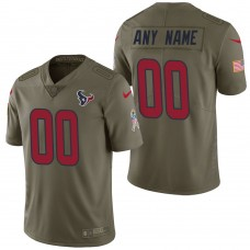 Houston Texans Olive 2017 Salute to Service Limited Customized Jersey