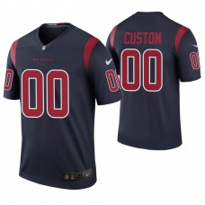 Houston Texans Navy Color Rush Legend Customized Jersey