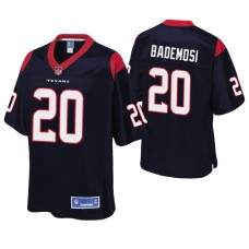 Youth Houston Texans #20 Johnson Bademosi Navy Player Pro Line Jersey