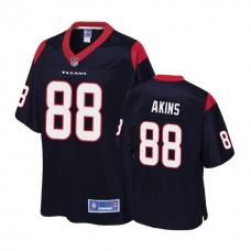 Youth Houston Texans #88 Jordan Akins Navy Player 2018 Draft Jersey