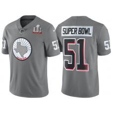 Houston Texans Steel Super Bowl LI Silver Limited Jersey