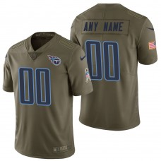 Tennessee Titans Olive 2017 Salute to Service Limited Customized Jersey