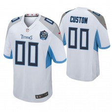 Tennessee Titans White 20th Anniversary Game Customized Jersey