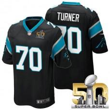 Carolina Panthers #70 Trai Turner Black 2016 Super Bowl 50 Limited Jersey