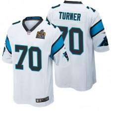 NFC Champions Carolina Panthers #70 Trai Turner White 2016 Super Bowl 50 Limited Jersey