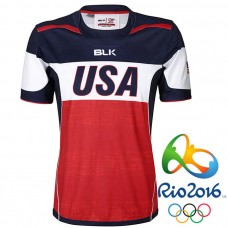 USA Rugby 2016 Olympic 7s Red Alternate Home Special Honors Jersey