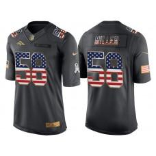 Denver Broncos #58 Von Miller Anthracite Salute to Service USA Flag Fashion Jersey