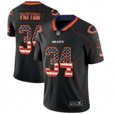 Chicago Bears #34 Walter Payton Black 2018 USA Flag Fashion Color Rush Limited Jersey