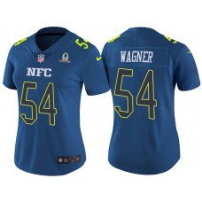 Women's NFC 2017 Pro Bowl Seattle Seahawks #54 Bobby Wagner Blue Game Jersey