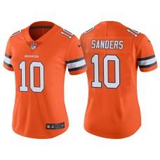 Women's Denver Broncos #10 Emmanuel Sanders Orange Color Rush Limited Jersey