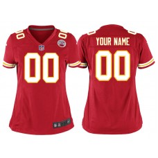 Women's Kansas City Chiefs Red Game Customized Jersey