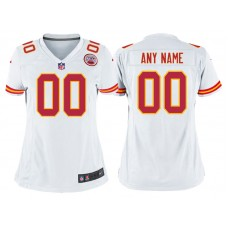 Women's Kansas City Chiefs White Game Customized Jersey