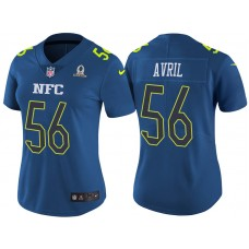 Women's NFC 2017 Pro Bowl Seattle Seahawks #56 Cliff Avril Blue Game Jersey