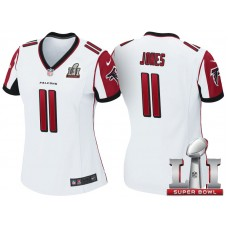 Women's Atlanta Falcons #11 Julio Jones White 2017 Super Bowl LI Patch Game Jersey