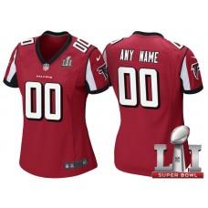 Women's 2017 Super Bowl LI Atlanta Falcons Red Game Customized Jersey