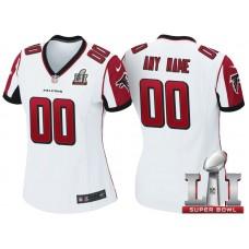 Women's 2017 Super Bowl LI Atlanta Falcons White Game Customized Jersey