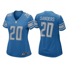 Women's 2017 Detroit Lions #20 Barry Sanders Blue Retired Player Game New Jersey