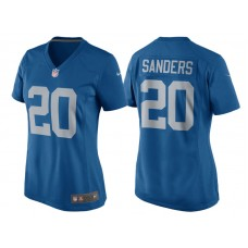 Women's 2017 Detroit Lions #20 Barry Sanders Blue Throwback Retired Player Game New Jersey