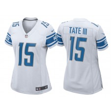 Women's 2017 Detroit Lions #15 Golden Tate White Game New Jersey