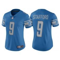 Women's 2017 Detroit Lions #9 Matthew Stafford Blue Limited New Jersey