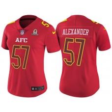 Women's AFC 2017 Pro Bowl Buffalo Bills #57 Lorenzo Alexander Red Game Jersey