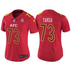 Women's AFC 2017 Pro Bowl Baltimore Ravens #73 Marshal Yanda Red Game Jersey
