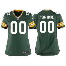 Women's Green Bay Packers Green Game Customized Jersey