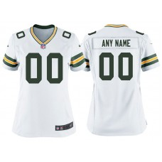 Women's Green Bay Packers White Game Customized Jersey
