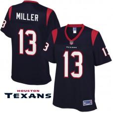 Women's Houston Texans #13 Braxton Miller Navy Pro Line Jersey