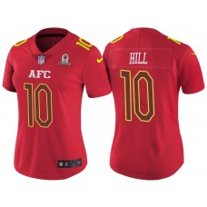 Women's AFC 2017 Pro Bowl Kansas City Chiefs #10 Tyreek Hill Red Game Jersey