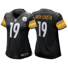 Women's Pittsburgh Steelers #19 JuJu Smith-Schuster Black Game Jersey
