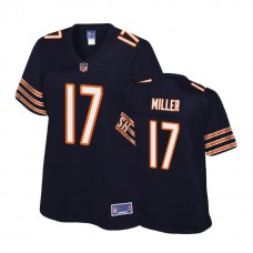 Women's Chicago Bears #17 Anthony Miller Navy 2018 Draft Player Jersey