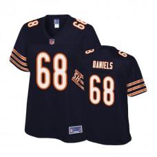 Women's Chicago Bears #68 James Daniels Navy 2018 Draft Player Jersey