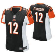 Women's Cincinnati Bengals #12 Alex Erickson Black Game Jersey