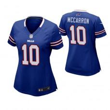 Women's Buffalo Bills #10 AJ McCarron Royal Game Jersey