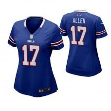 Women's Buffalo Bills #17 Josh Allen Royal Game Jersey