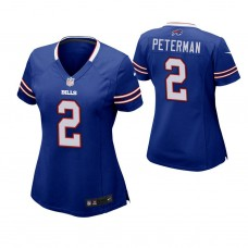Women's Buffalo Bills #2 Nathan Peterman Royal Game Jersey