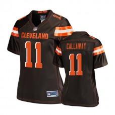 Women's Cleveland Browns #11 Antonio Callaway Brown Pro Line Player Jersey