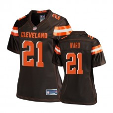 Women's Cleveland Browns #21 Denzel Ward Brown Pro Line Player Jersey