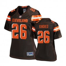 Women's Cleveland Browns #26 Derrick Kindred Brown Pro Line Player Jersey