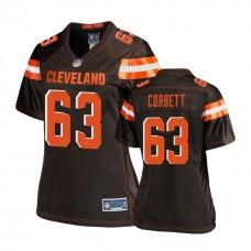 Women's Cleveland Browns #63 Austin Corbett Brown 2018 Draft Player Jersey