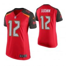 Women's Tampa Bay Buccaneers #12 Chris Godwin Red Game Jersey